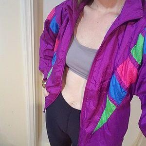 90s Windbraker Zip Up Jacket PM Purple